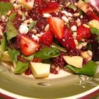 Strawberry and Feta Salad II - An excellent summer salad that can be altered to suit your liking. Other cheeses I have used include Cheddar and blue cheese. I have also added grilled chicken breast to make it a dinner salad.