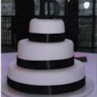 Bride's Cake - This is a  three-tiered  white wedding cake.  It is practical and good.