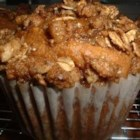 Whole Wheat Sweet Potato Muffins - Spicy whole wheat sweet potato muffins, great for breakfast or a snack, have a crunchy almond-oat topping.