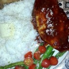 Texas BBQ Chicken - This is a SUPER easy recipe that taste GREAT and will make your home smell simply WONDERFUL while baking!!  I usually serve the chicken on top a bed of rice.