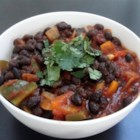 'Anything Goes' Easy Black Beans - This simple and versatile preparation of black beans with jalapeno, garlic, and onion can be served in tortillas, with scrambled eggs, on rice, or just by itself.