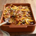 VELVEETA(R) Italian Sausage Bake - If you could mix comfort in a casserole and serve it up hot, it would taste like this. Zesty and cheesy through and through, with hearty noodles, zucchini and Italian sausage.