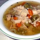 Mother-in-law Chicken Soup - A simple nourishing soup made with plenty of chicken and rice.