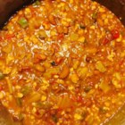 Vegan Chunky Chili - If you are entertaining mixed palettes, this meal will satisfy all tastes.  A from-scratch chili that uses many different vegetables as well as beans, lentils and tofu to provide that 'full' feeling that chili with meat offers.  Add fresh parsley and basil to taste, if desired.  I prefer to let the chili sit overnight in the refrigerator before serving.
