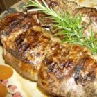 Garlic Herb Grilled Pork Tenderloin - Grilled pork tenderloin with garlic, thyme and rosemary.