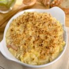 Marie's Homemade Mac and Cheese - This is homemade macaroni and cheese made easy!  Elbow macaroni is baked with Cheddar cheese soup, eggs, milk and Cheddar cheese.