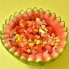 Watermelon and Corn Salsa - Fresh summer flavors come in this salsa you can make with your leftover roasted ears of corn.