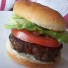 Pepperoni Burgers - Standard beef burgers receive a delicious upgrade with the addition of minced pepperoni.