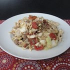 Ground Beef and Chopped Cabbage - This mixture of ground beef, cabbage, and tomatoes is given a flavor boost with the addition of red pepper flakes, garlic, and Italian seasoning.