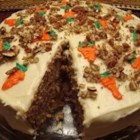 Carrot Cake I - This recipe makes a sumptuous carrot cake with cinnamon accents and a homemade cream cheese glaze.