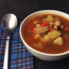 Hawaij Vegetable Soup - Hawaij, a Yemenite curry blend, makes a delicious, fragrant, and beautiful vegetable soup.