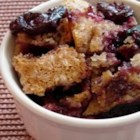 Easy Batter Fruit Cobbler - Short of serving store-bought ice cream, you won't find a simpler, more delicious dessert than this fruit cobbler. Use any juicy summer fruit: peaches, nectarines, blueberries, blackberries, strawberries, raspberries. And if you use frozen berries, this dessert can be assembled in less than 10 minutes.