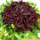 Raw Beet Salad - This raw beet salad is a combination of shredded beets tossed with garlic, balsamic vinegar, and olive oil for a refreshing and colorful lunch.