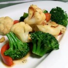Browned Butter Vegetables with Almonds - Fresh vegetables (choose about 1 1/2 pounds of your favorites) are sauteed in a nutty butter sauce.