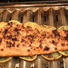 Grilled Steelhead Trout - This simple preparation of steelhead trout calls for a sauteed, lemon-kissed mixture of garlic and onion to be brushed atop the fish as it grills on a bed of lemon slices.