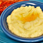 Cauliflower Puree - Cauliflower is pureed with a little bit of butter and salt for a quick and easy alternative to mashed potatoes.
