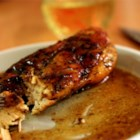 Rosemary Chicken with Orange-Maple Glaze - Chicken breasts adorned with a fresh rosemary rub, then sauteed and braised in a sauce of orange juice, white wine and maple syrup. This wonderfully rich glaze makes an elegant, quick dinner to serve to guests. To serve, place chicken on top of hot cooked rice on each plate and spoon sauce over the top. Wonderful served with steamed asparagus.