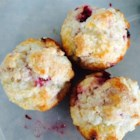 Raspberry Lemon Muffins - This is the perfect muffin - really yummy flavor yet not much sugar. I've used different fruits too - blueberries and raspberries are our absolute favorites, but strawberries, peaches, or cherries are good too - frozen or fresh. You can use any kind of yogurt without fruit on the bottom. Easily adaptable to what you have. Hope you enjoy!
