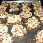 Almond Chocolate Coconut Cookies I - Light cookie with the taste of an Almond Joy candy bar.