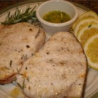 Grilled Swordfish with Rosemary - White wine marinated grilled swordfish, topped with a drizzle of rosemary and lemon infused olive oil.