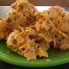Frosted Corn Flake Cereal Clusters - It couldn't get any easier. No bake, peanut butter taste!