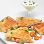 Crawfish Quesadillas - Seasoned crawfish tails fill these cheesy quesadillas.
