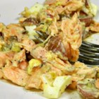 Salmon Salad Spread - This versatile salmon salad recipe turns canned salmon and hard-cooked eggs into a great cracker or sandwich spread.