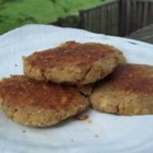 Easy Salmon Cakes - Fried salmon cakes filled with green onions and fresh dill weed.