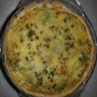 Splendid Spinach and Mushroom Quiche - Spinach and mushrooms pair with feta cheese and eggs to create this recipe for a more healthy and flavorful breakfast quiche.