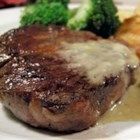 Steaks With Roquefort Sauce - This recipe came to me when I was doing a Spanish themed party for a Hemingway book. Everyone LOVED the sauce so much I try to make it all the time. However, if you don't like bleu cheese, I wouldn't try it. I also substitute whiskey for the brandy, or any liquor that isn't sweet.