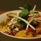 Quick Red Curry Soup - This is a quick recipe for a Thai-inspired coconut-curry soup with shrimp and chicken.