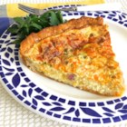 Creamy Ham and Cheese Quiche - This egg quiche with ham, Cheddar cheese, and Swiss cheese is creamy, simple, and delicious!