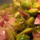 Ham and Brussels Sprout Bake - This is an easy way to turn Brussels sprouts into a meal rather than just a side dish.