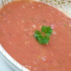 Quick Classic Gazpacho - For the ultimate gazpacho, you must peel, seed, dice, salt and drain really good, vine-ripened tomatoes. So what if you don't have time to fuss with fresh tomatoes? I've found the canned variety makes a fine substitute. Another advantage: Fresh tomatoes start to deteriorate as soon as the soup is refrigerated, but canned tomatoes are unaffected by the chill.
