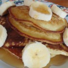 No Milk, No Wheat, Banana Pancakes - These wheat-free and dairy-free pancakes are made with bananas, eggs, and oats for a quick and easy breakfast.