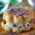 Quick-as-Krispies(TM) Ice Cream Sandwiches - Making these with your kids is a great way to cool down together on a sunny summer afternoon.