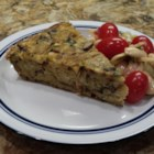 Mushroom Matzo Kugel - This browned onion and mushroom kugel made with matzo crackers is a favorite dish during Passover.