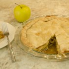 Apple Almond Pie - This apple pie recipe includes a hearty crunch with the addition of almonds to the filling for a dessert that will stand out from the rest.