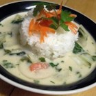 Adrienne's Tom Ka Gai - Garlic, ginger, lemon grass, chile peppers, coriander and cumin flavor this Thai-inspired coconut milk soup with chicken and bok choy.