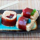 Sushi Treats(TM) - Get out the chopsticks! These gummy-worm-filled Rice Krispies Treats(R) look just like the real deal.
