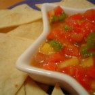 Avocado, Tomato and Mango Salsa - Looking for a refreshing salsa for a warm summer evening?  This is our favorite. Serve with tortilla chips. This is also fantastic served on white fish. I often use a canned jalapeno instead of fresh.