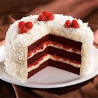Cherry Red Velvet Cake - This is a moist, fruity Red Velvet cake that's pure heaven. Cherries and buttermilk are the secret add-in, and the homemade icing is a special treat. For a frosting shortcut, you can always use Duncan Hines Cream Cheese Frosting.