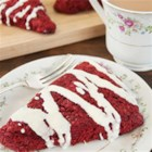 Decadent Red Velvet Scones - Dress up tea time with Decadent Duncan Hines Red Velvet Scones.