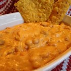 Easy Cheesy Bean Dip - It's easy to remember the recipe for this crowd-pleasing bean dip that is made with 5 simple ingredients.