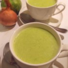 Mom's Zucchini Soup - This simple zucchini soup recipe has a strong onion flavor in a base of milk and chicken stock.
