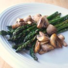 Roasted Asparagus and Mushrooms - A delicious and easy side dish can be made by tossing asparagus and mushrooms together with olive oil and rosemary. I love roasting veggies and hit on this WONDERFUL combo. You could use a Hollandaise on the side.... but why??
