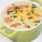 Jalapeno-Potato Soup - This potato soup, spiked with the spicy addition of jalapeno pepper, is hearty enough to be served as a meal paired with crusty rolls.