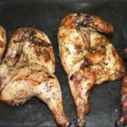 Grilled Cornish Game Hens - A piquant marinade makes elegant Cornish game hens a treat to grill.