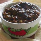 Vegan Bean Taco Filling - Black beans mingle with onions, peppers, garlic, cornmeal, and spices in this tasty taco filling. Try it in burritos or as a dip for tortilla chips. No black beans? Red, pink, or pinto beans are great subs.