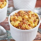 Mac & Cheese with Root Vegetables & Pancetta - Grated carrots and parsnips add a touch of sweetness and pancetta adds depth and texture to this classic mac and cheese casserole.